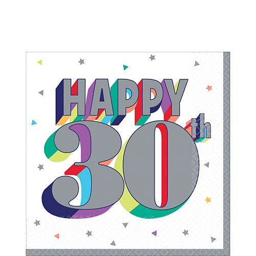 Here's to 30 Birthday Lunch Napkins 16ct Image #1