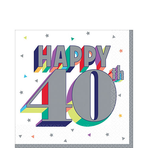 Here's to 40 Birthday Lunch Napkins 16ct Image #1