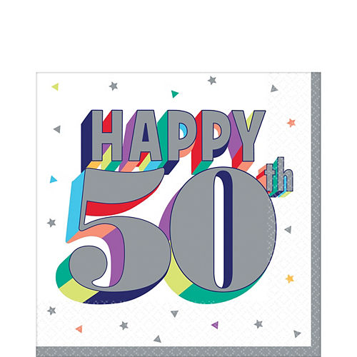 Here's to 50 Birthday Lunch Napkins 16ct Image #1
