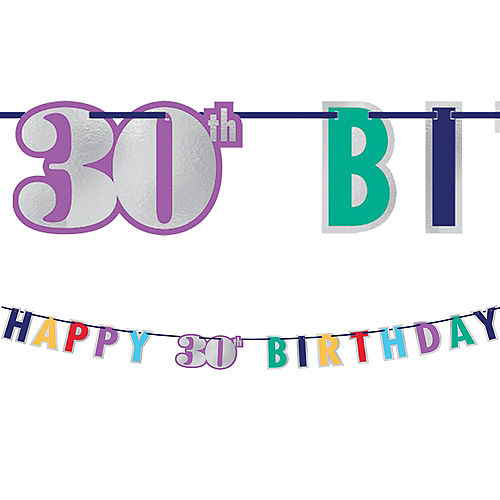 Here's to 30 Birthday Banner Image #1