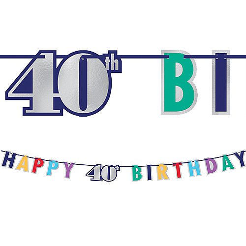 Here's to 40 Birthday Banner Image #1