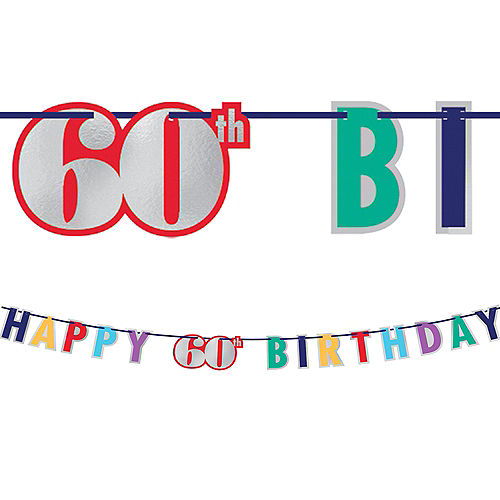 Here's to 60 Birthday Banner Image #1