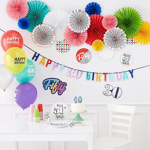 Here's to 30 Birthday Room Decorating Kit 12pc Image #2