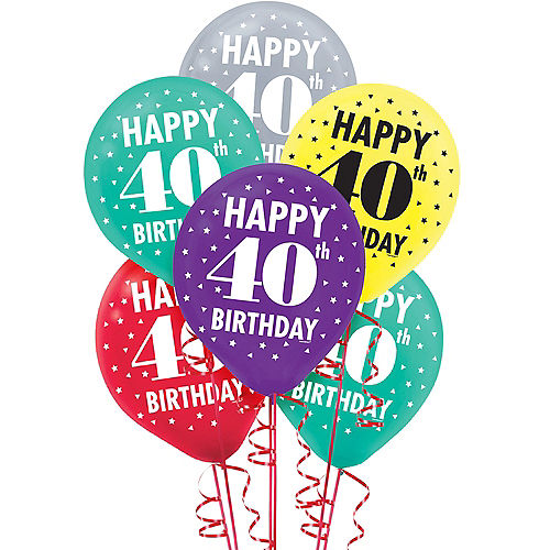 Here's to 40 Birthday Balloons 15ct Image #1