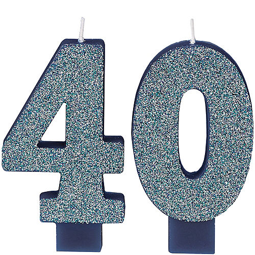 Here's to Your Birthday Number 40 Birthday Candles 2ct Image #1
