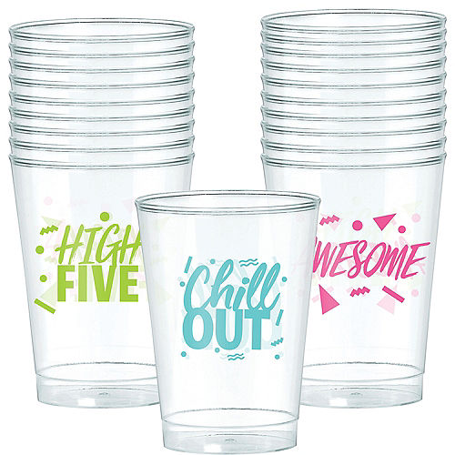 Metallic Awesome 80s Plastic Cups 20ct Image #1