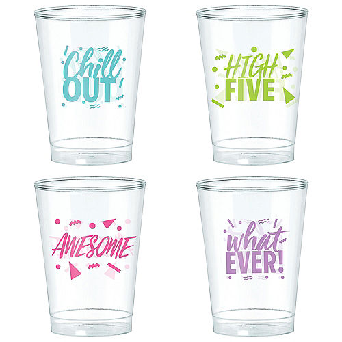 Metallic Awesome 80s Plastic Cups 20ct Image #2