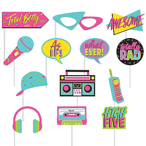 Awesome 80s Scene Setter with Photo Booth Props Image #2