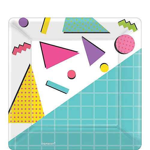 Awesome 80s Dessert Plates 8ct Image #1