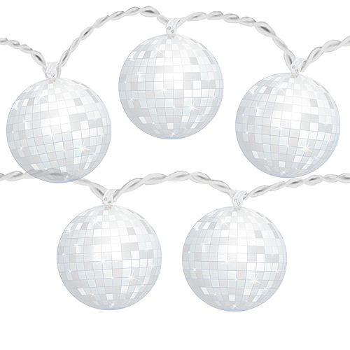Good Vibes 70s Disco Ball LED String Lights Image #1