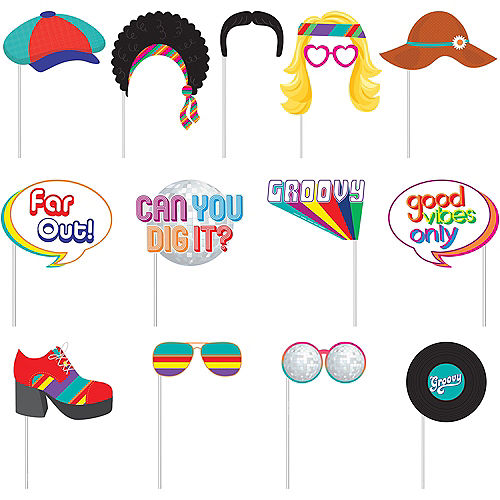 Good Vibes 70s Scene Setter with Photo Booth Props Image #2