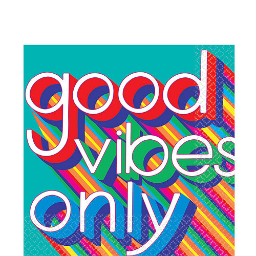 Good Vibes 70s Lunch Napkins 16ct Image #1
