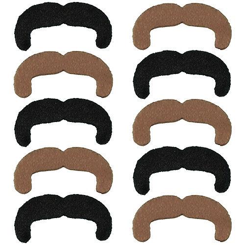 Black & Blond 70s Moustaches 10ct Image #1