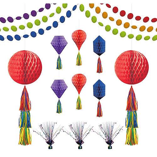 Rainbow Honeycomb Decorating Kit Image #1