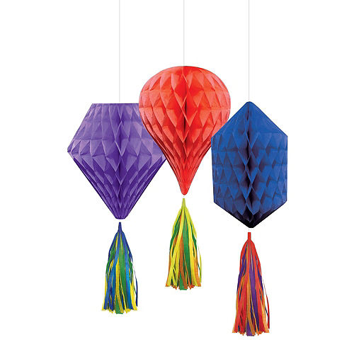 Rainbow Honeycomb Decorating Kit Image #3