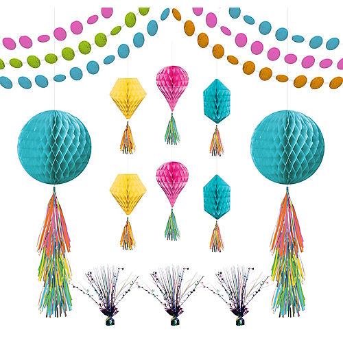 Multicolor Honeycomb Decorating Kit Image #1