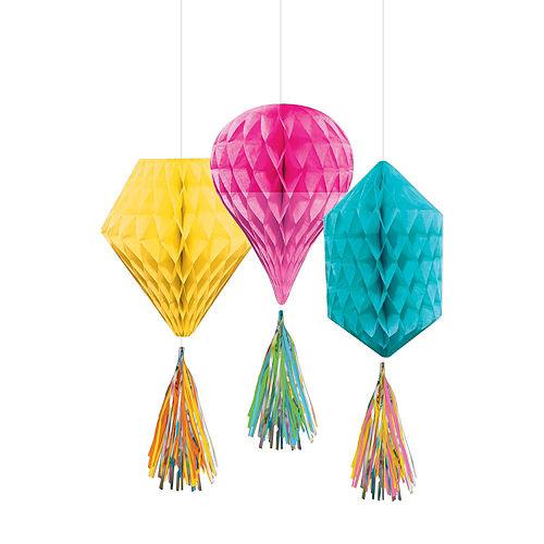 Multicolor Honeycomb Decorating Kit Image #3