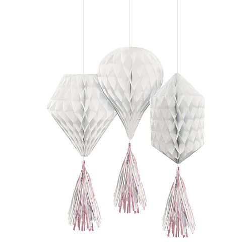 White Honeycomb Decorating Kit Image #3