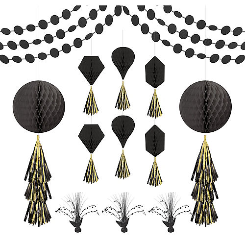 Black Honeycomb Decorating Kit Image #1