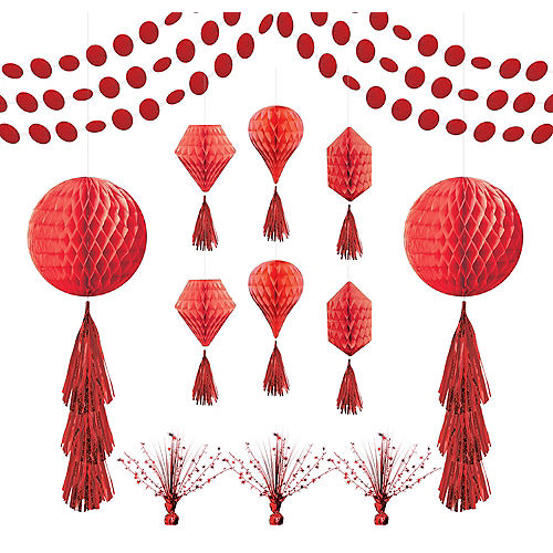 Red Honeycomb Decorating Kit Image #1