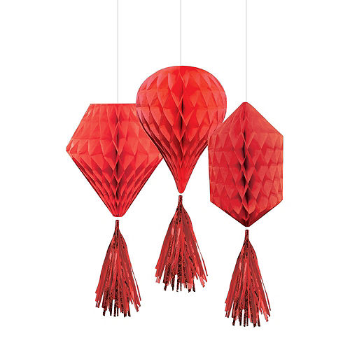 Red Honeycomb Decorating Kit Image #3