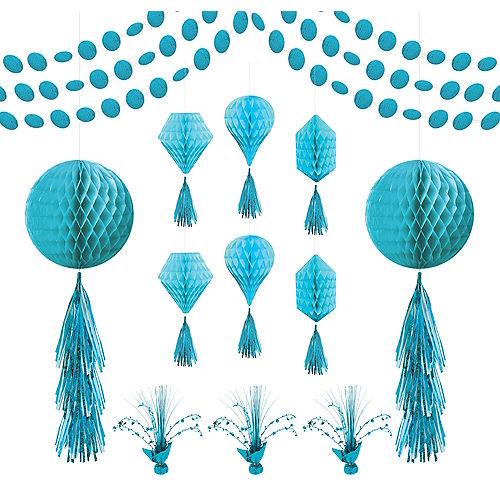 Caribbean Blue Honeycomb Decorating Kit Image #1