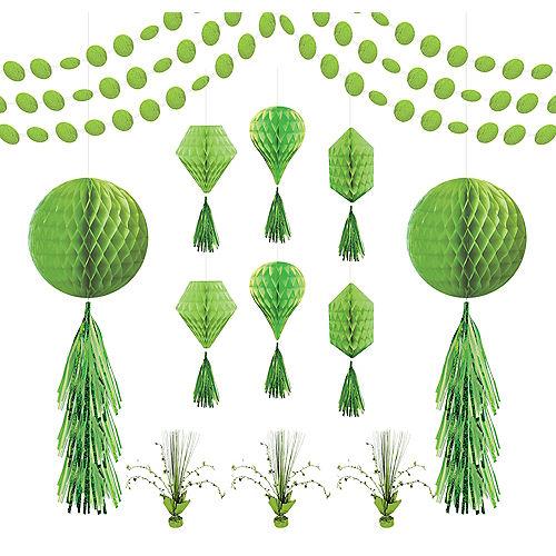 Kiwi Green Honeycomb Decorating Kit Image #1