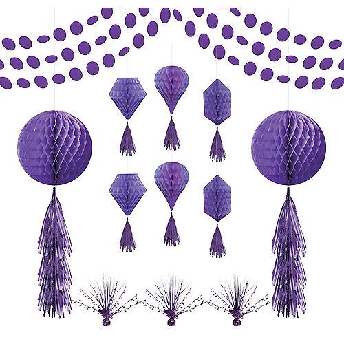 Purple Honeycomb Decorating Kit Image #1