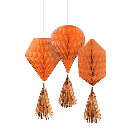 Orange Honeycomb Decorating Kit Image #3