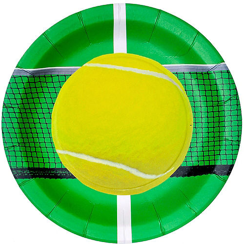 Tennis Ball Lunch Plates 8ct Image #1