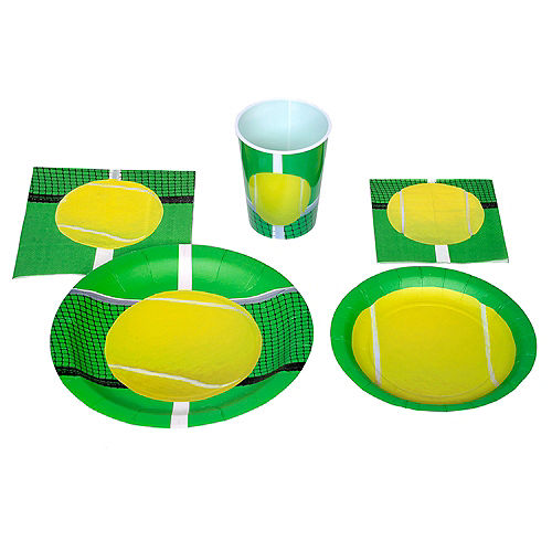 Tennis Ball Lunch Plates 8ct Image #2