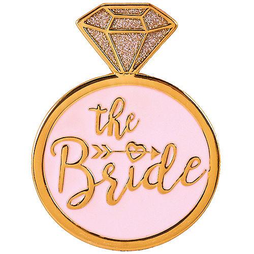 The Bride Gold Enamel Pin Image #1
