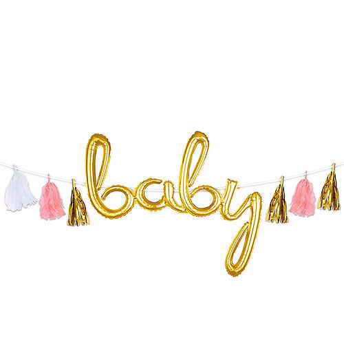 Create Your Own Gold & Pink Tassel Garland Image #1