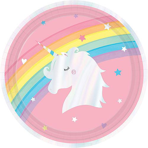 Iridescent Magical Rainbow Unicorn Lunch Plates 8ct Image #1
