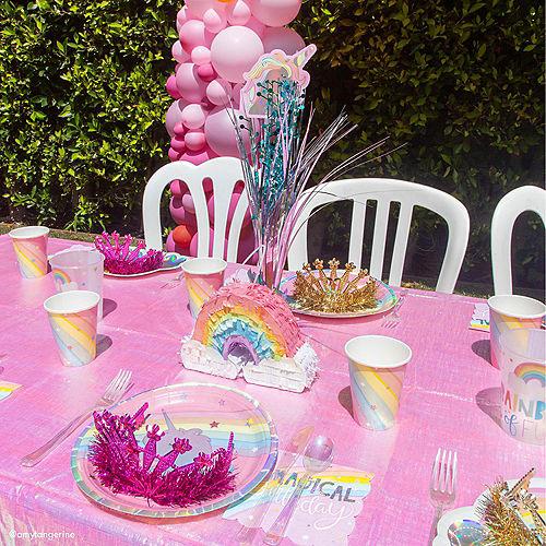 Iridescent Magical Rainbow Unicorn Lunch Plates 8ct Image #2