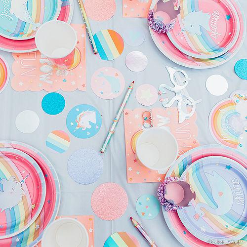 Iridescent Magical Rainbow Unicorn Lunch Plates 8ct Image #4