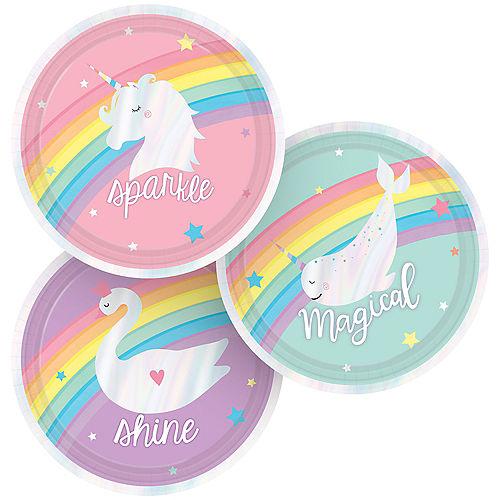 Iridescent Magical Rainbow Dessert Plates 8ct Image #1
