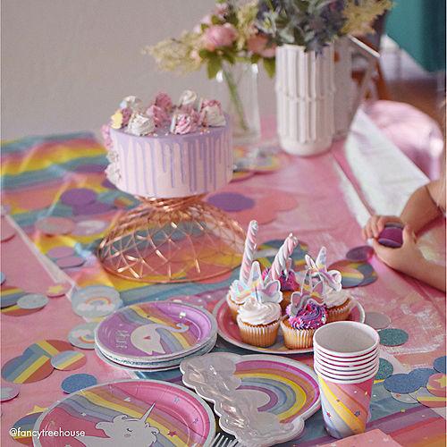 Iridescent Magical Rainbow Dessert Plates 8ct Image #5