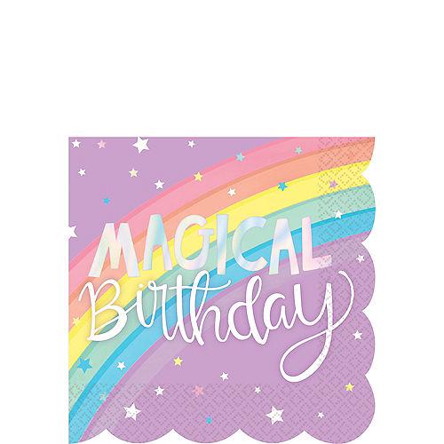Magical Rainbow Birthday Beverage Napkins 16ct Image #1