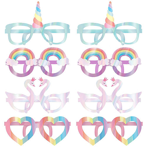 Iridescent Magical Rainbow Glasses 8ct Image #1