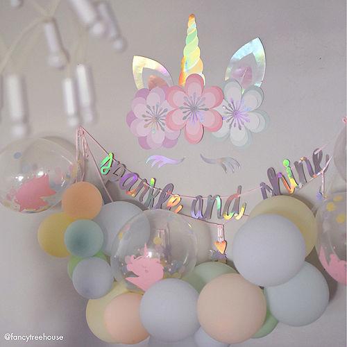 Magical Rainbow Unicorn Floral Cutouts 8ct Image #3