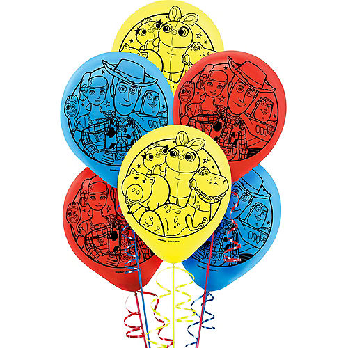 Toy Story 4 Balloons 6ct Image #1