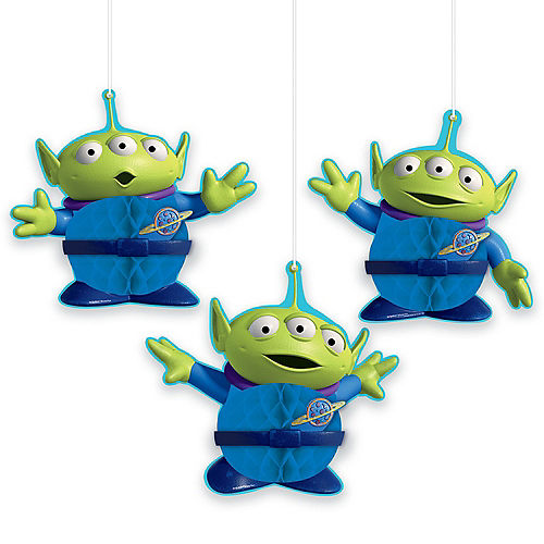 Toy Story 4 Honeycomb Decorations 3ct Image #1