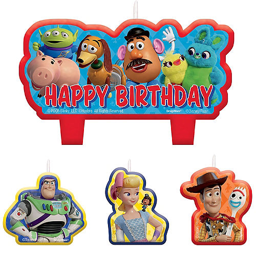 Toy Story 4 Candles 4ct Image #1