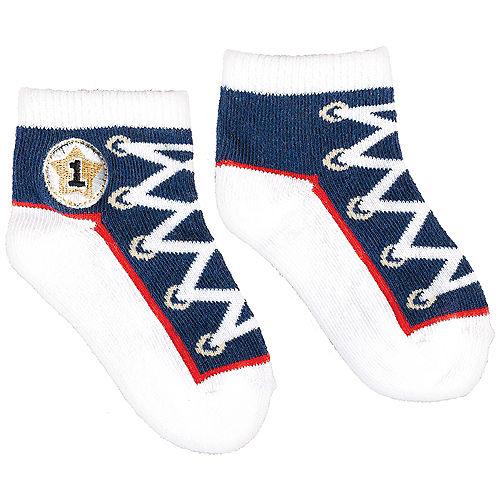 Sneakers 1st Birthday Ankle Socks Image #1