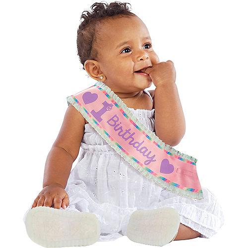 Pink 1st Birthday Sash Image #1