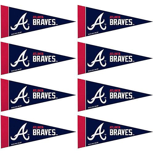 Mini Atlanta Braves Pennant Flags 8ct Image #1