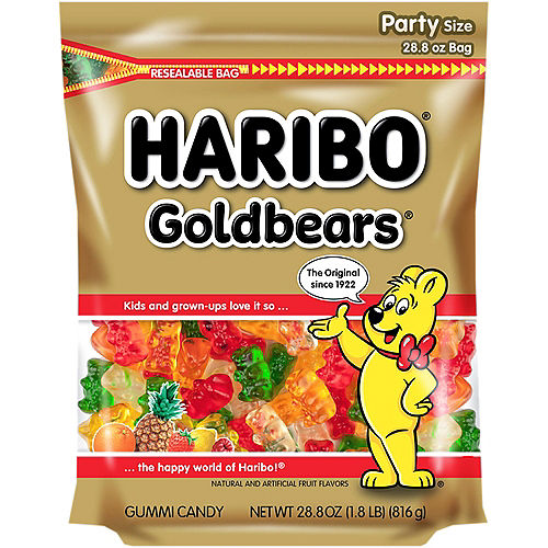 Haribo Gold Bears Gummi Candy Party Size Bag Image #1