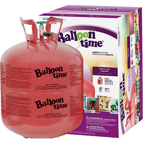 Balloon Time Large Helium Tank with 30 Balloons, Ribbon & Hi-Float Image #3