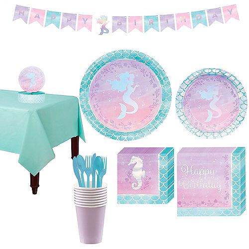 Shimmer Mermaid Basic Party Kit for 8 Guests Image #1